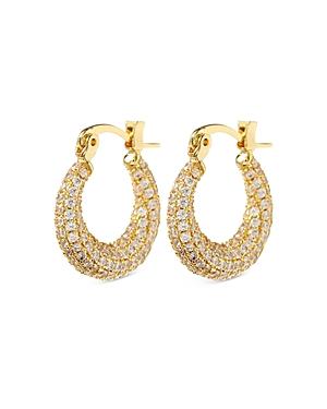 Mini Martina Pave Hoop Earrings