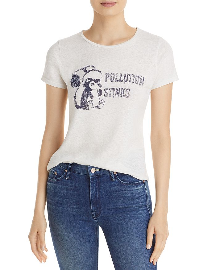 Mother Graphic Print Tee In Pollution Stinks