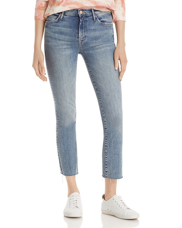 Mother The Rascal Ankle Fray Jeans In Bonfire Lighting