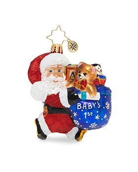 Christopher Radko - Hurry Santa Gem Ornament