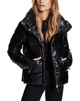 SAM. - Isabel Faux Leather Puffer Coat