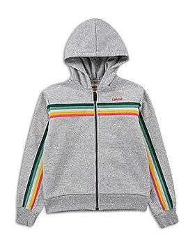 Levi's - Girls' Stripe Full Zip Hoodie - Big Kid
