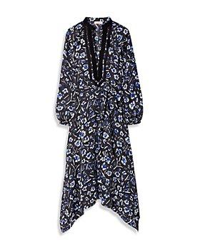 Tory Burch - Puffed Sleeve Printed Tunic Dress