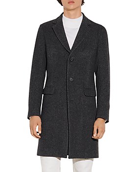 Sandro - Apollo Chevron Long Wool Blend Coat