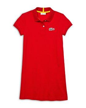 Lacoste - Girls' Cotton Polo Shirt Dress - Little Kid, Big Kid
