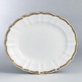 "Royal Crown Derby - ""Carlton Gold"" Oval Platter, 13"""