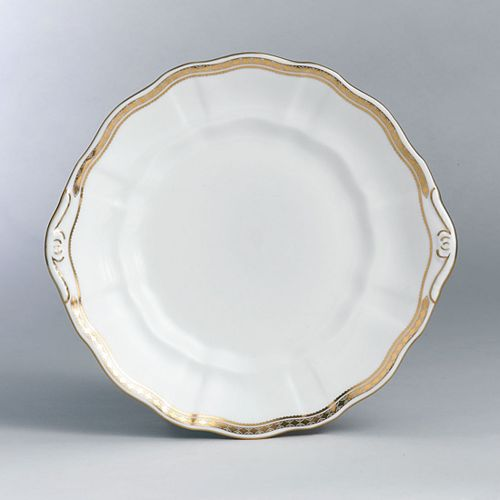 """Royal Crown Derby - """"Carlton Gold"""" Cake Plate, 9"""""""
