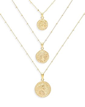 Adinas Jewels - Coin Pendant Necklaces, Set of 3