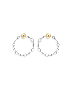 18K Yellow Gold Trina Diamond Pave Hoop Earrings