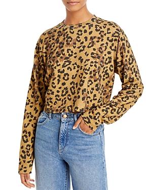 Pam & Gela Jaguar Print Cropped Top