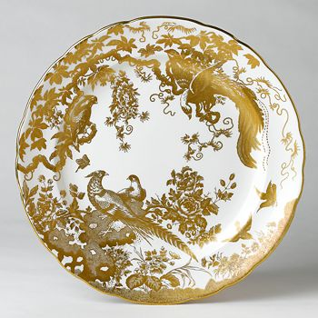 """Royal Crown Derby - """"Gold Aves"""" Dinner Plate, 10"""""""