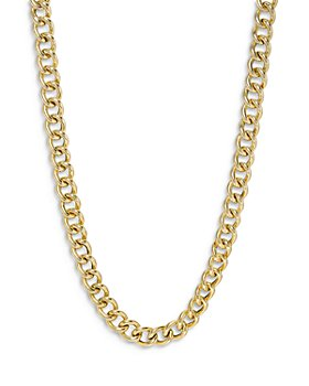 Zoe Lev - 14K Yellow Gold Large Curb Link Chain Necklace, 16""