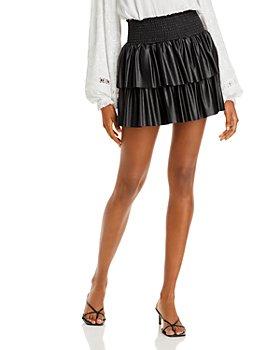 Ramy Brook - Faux Leather Maryjo Mini Skirt