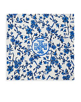 Tory Burch - Blue Branches Silk Neckerchief