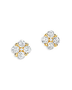 Bloomingdale's - Diamond Cluster Stud Earrings in 14K White Gold, 0.55 ct. t.w. - 100% Exclusive