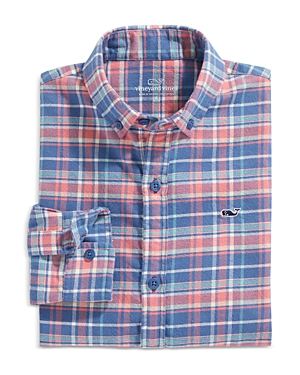 Vineyard Vines Boys\\\' Lyle Flannel Plaid Shirt - Little Kid, Big Kid-Kids