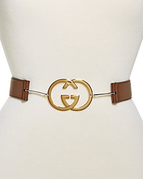Gucci - Women's Interlocking G Buckle Leather Belt