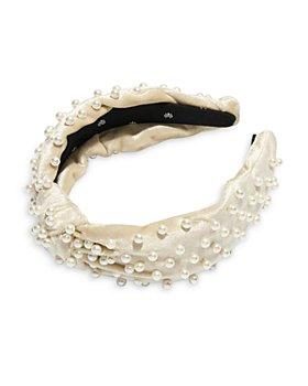 Lele Sadoughi - Velvet Pearl Knot Headband