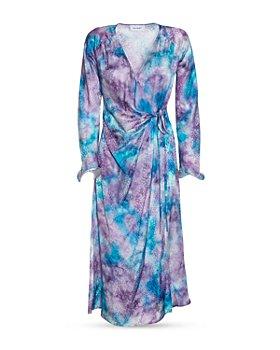 Art Dealer - Deborah Printed Silk Midi Wrap Dress