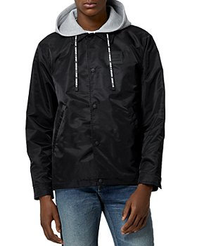 The Kooples -  Hooded Button Jacket