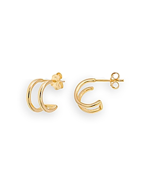 Aqua Petite Double Bar Hoop Earrings - 100% Exclusive