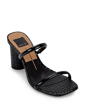 Dolce Vita - Women's City Embossed Leather Round Heel Sandals