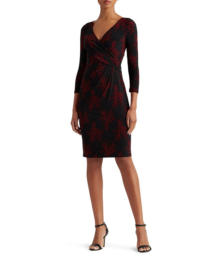 Ralph Lauren - Floral Print Crossover Dress