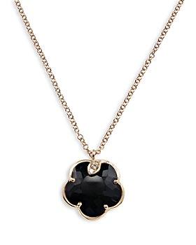 "Pasquale Bruni - 18K Rose Gold Petit Joli Black Onyx and Diamond Pendant Necklace, 16.75"""