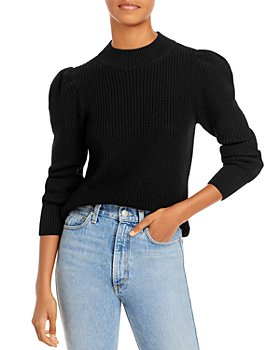 AQUA - Cotton Puff Sleeve Mock Neck Sweater - 100% Exclusive