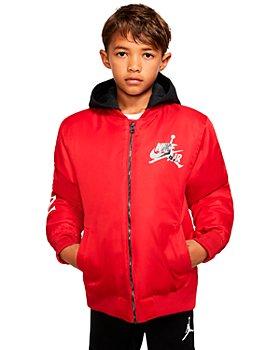 JORDAN - Boys' Nike Air Hooded Bomber Jacket - Big Kid
