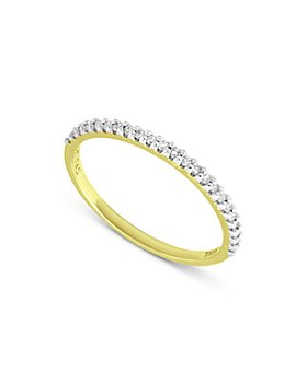 Bloomingdale's - Diamond Band Ring in 18K Gold Plated Sterling Silver, 0.12 ct. t.w. - 100% Exclusive