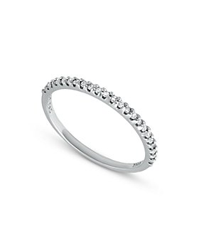 Bloomingdale's - Diamond Band Ring in Sterling Silver, 0.12 ct. t.w. - 100% Exclusive