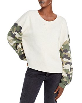 Vintage Havana - Camo Print Fleece Sweatshirt