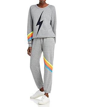 Aviator Nation - Bolt Cheveron Sweatshirt & Jogger Pants