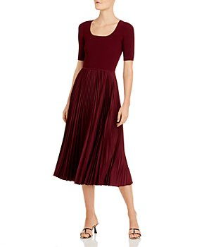 Theory - Pleated Midi Dress