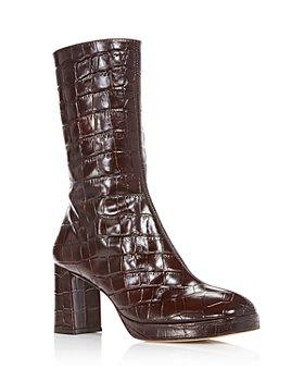 Miista - Women's Carlota Croc Embossed Boots