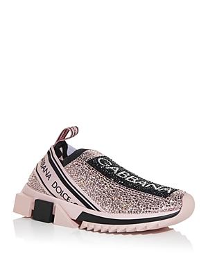 Dolce & Gabbana Women\\\'s Sorrento Crystal Slip On Sneakers