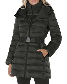 T Tahari - Claire Faux Fur Collar Hooded Puffer Coat