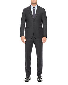 Armani - Regular Fit Blue Wool Blend Suit