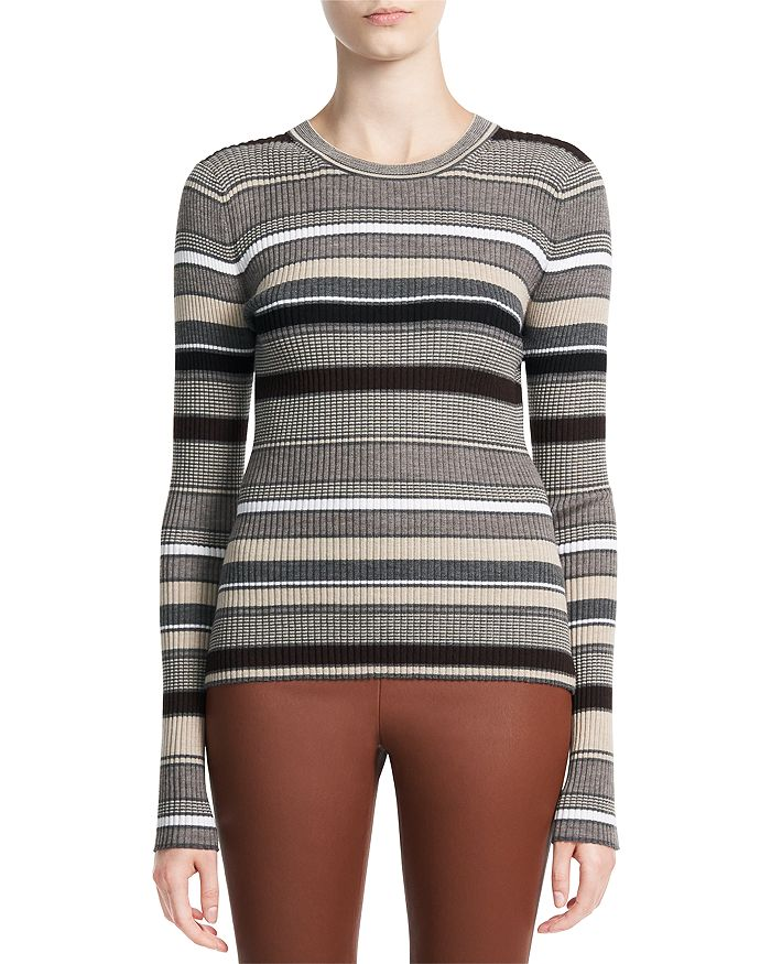 Theory - Striped Long Sleeve Top