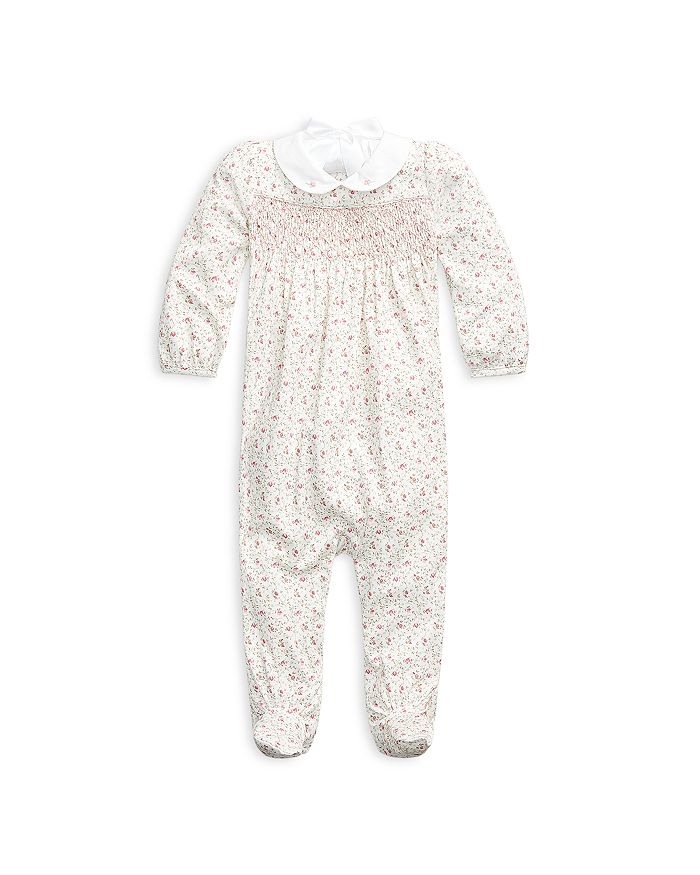 Ralph Lauren - Girls' Floral Print Footed Cotton Coverall - Baby