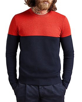 Ted Baker - Icepop Colorblocked Cotton Blend Sweater