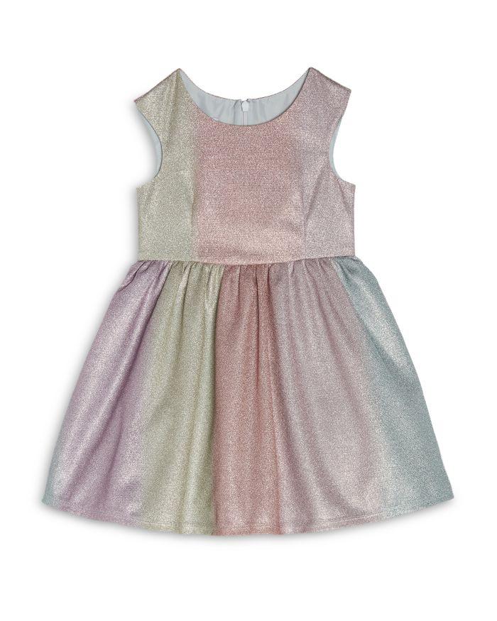 Pippa & Julie Girls' Grace Rainbow Metallic Striped Dress - Little Kid  | Bloomingdale's