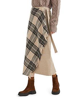Weekend Max Mara - Pigna Plaid Wrap Midi Skirt