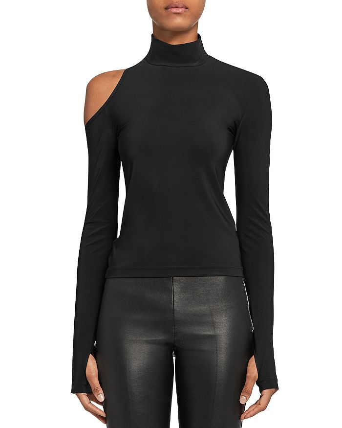 Helmut Lang ASYMMETRIC CUTOUT TOP