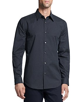 Theory - Slim Fit Micro Print Shirt