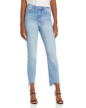 L'AGENCE - Harlem High Rise Raw Hem Skinny Jeans in Tahoe