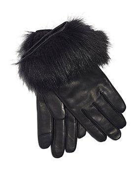 Echo - Leather & Faux Fur Tech Gloves