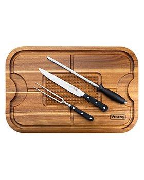 Viking - Acacia Board and 3 Pc. Carving Set