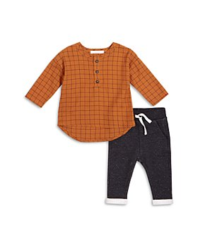 FIRSTS by petit lem - Girls' Henley Top & Pants Set - Baby